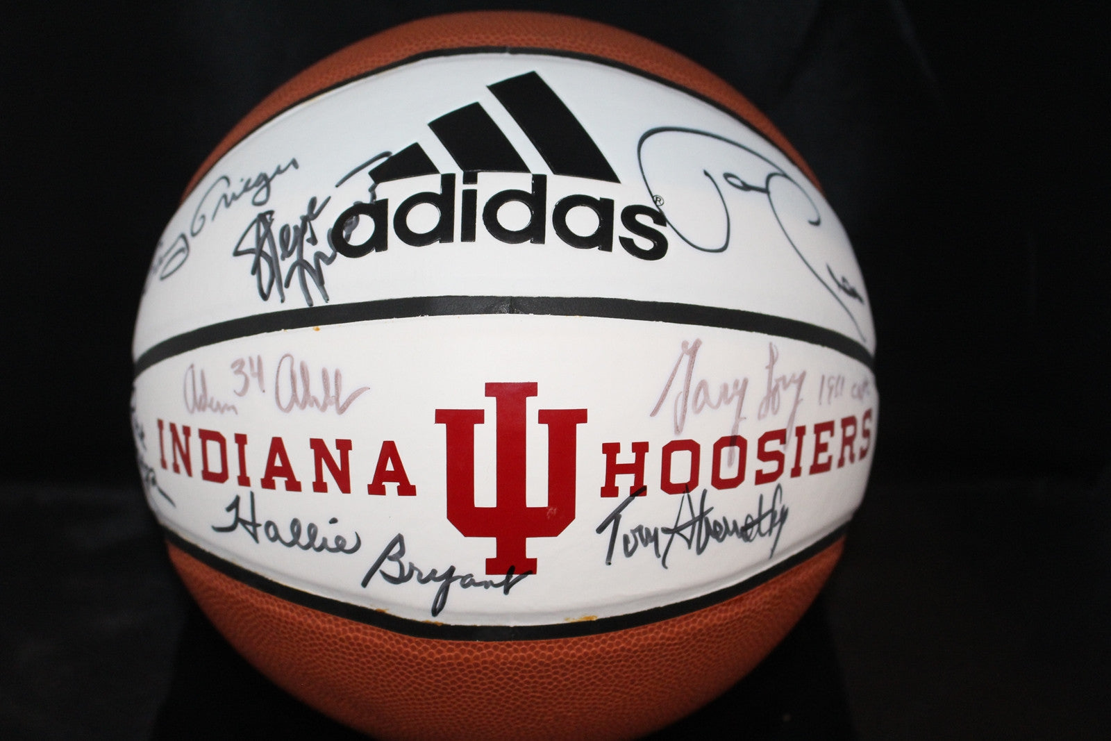 Multi Signed Indiana University Logo Basketball - Vintage Indy Sports