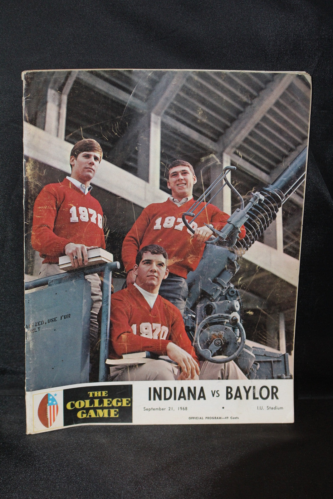 1968 Indiana vs Baylor Football Program - Vintage Indy Sports
