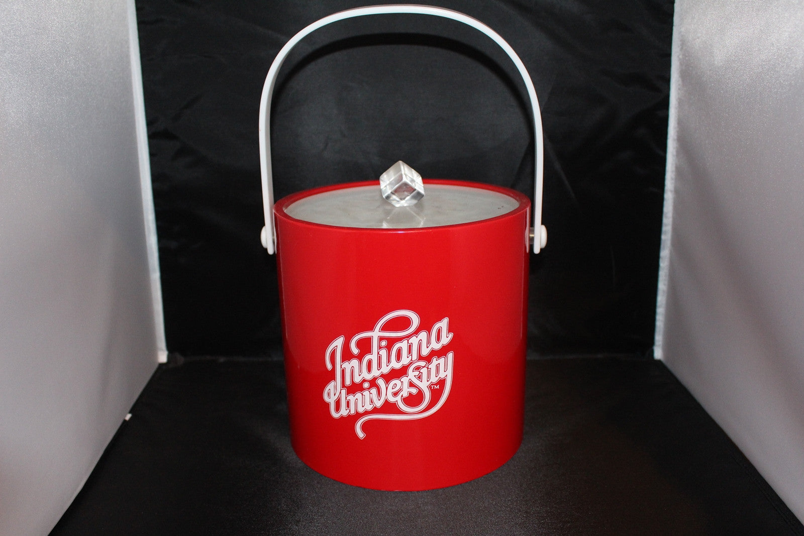 "Indiana University Logo 8"" Ice Bucket - Vintage Indy Sports"