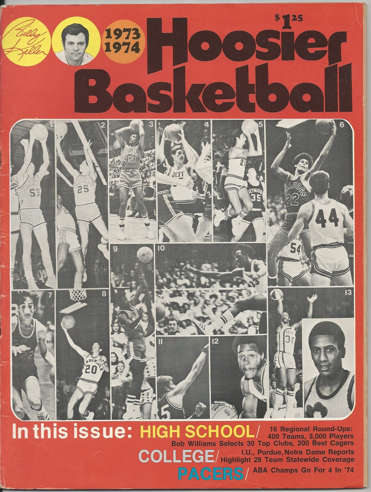 1973-74 Hoosier Basketball Magazine - Vintage Indy Sports