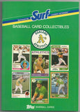 Oakland A's Surf Topps Baseball Card Guide - Vintage Indy Sports