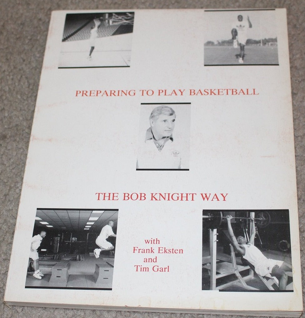Preparing to Play Basketball The Bob Knight Way Oversized Paperback Book - Vintage Indy Sports