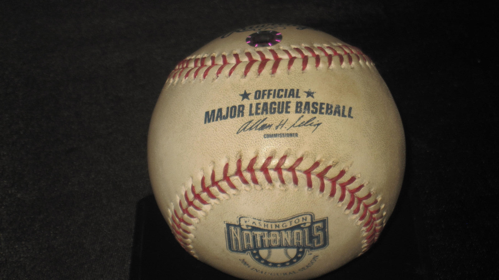 2005 Padres vs Nationals Trevor Hoffman 421st Save Game Used Baseball - Vintage Indy Sports
