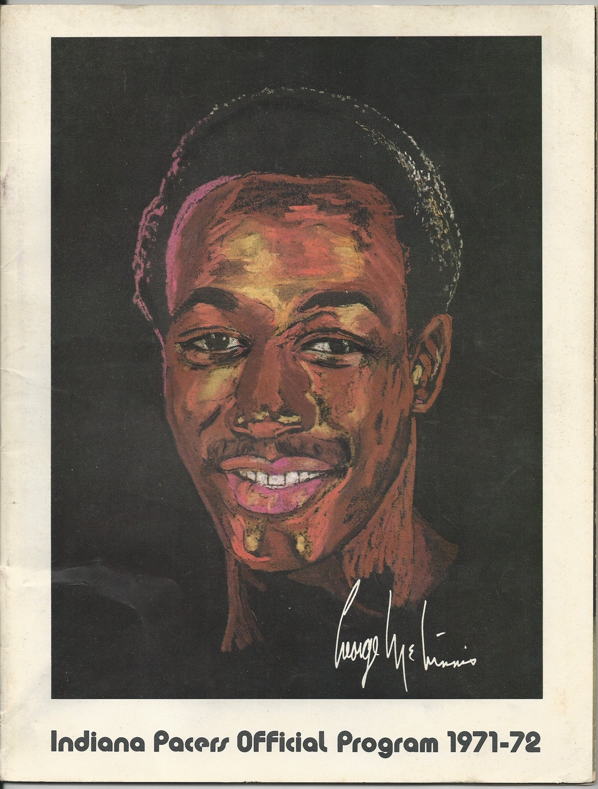1971 Indiana Pacers vs Utah Stars ABA Basketball Program, McGinnis Cover - Vintage Indy Sports