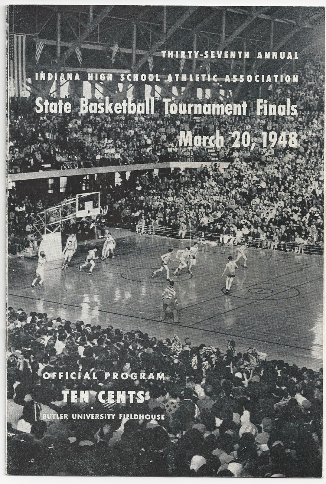 1948 Indiana High School Basketball State Finals Program - Vintage Indy Sports