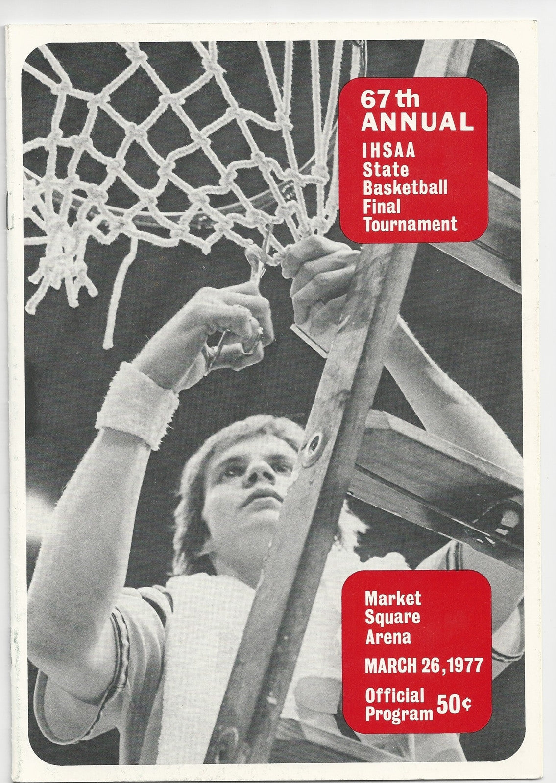 1977 Indiana High School Basketball State Finals Program - Vintage Indy Sports