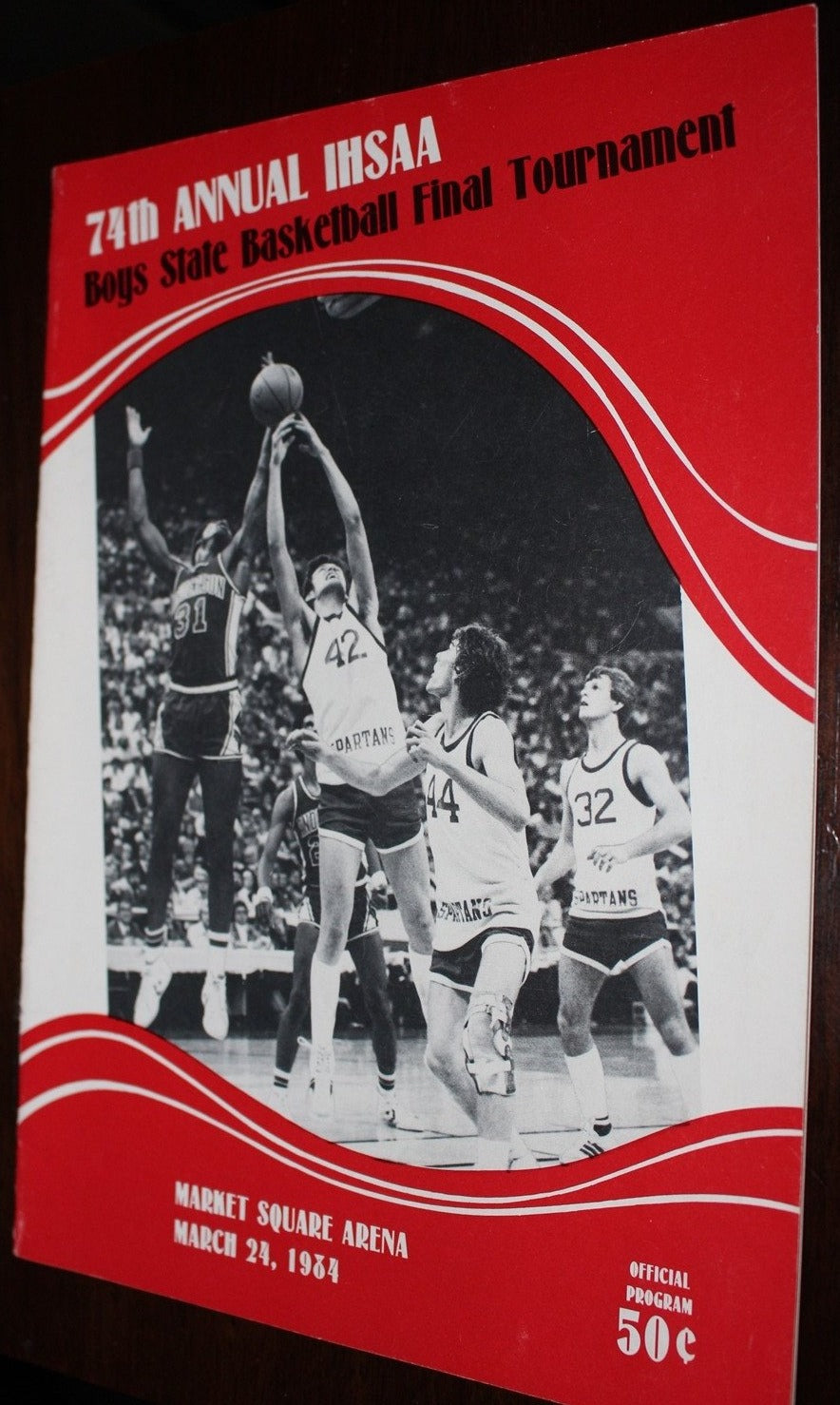 1984 Indiana High School Basketball State Finals Program - Vintage Indy Sports