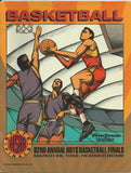 1992 Indiana High School Basketball State Finals Program - Vintage Indy Sports