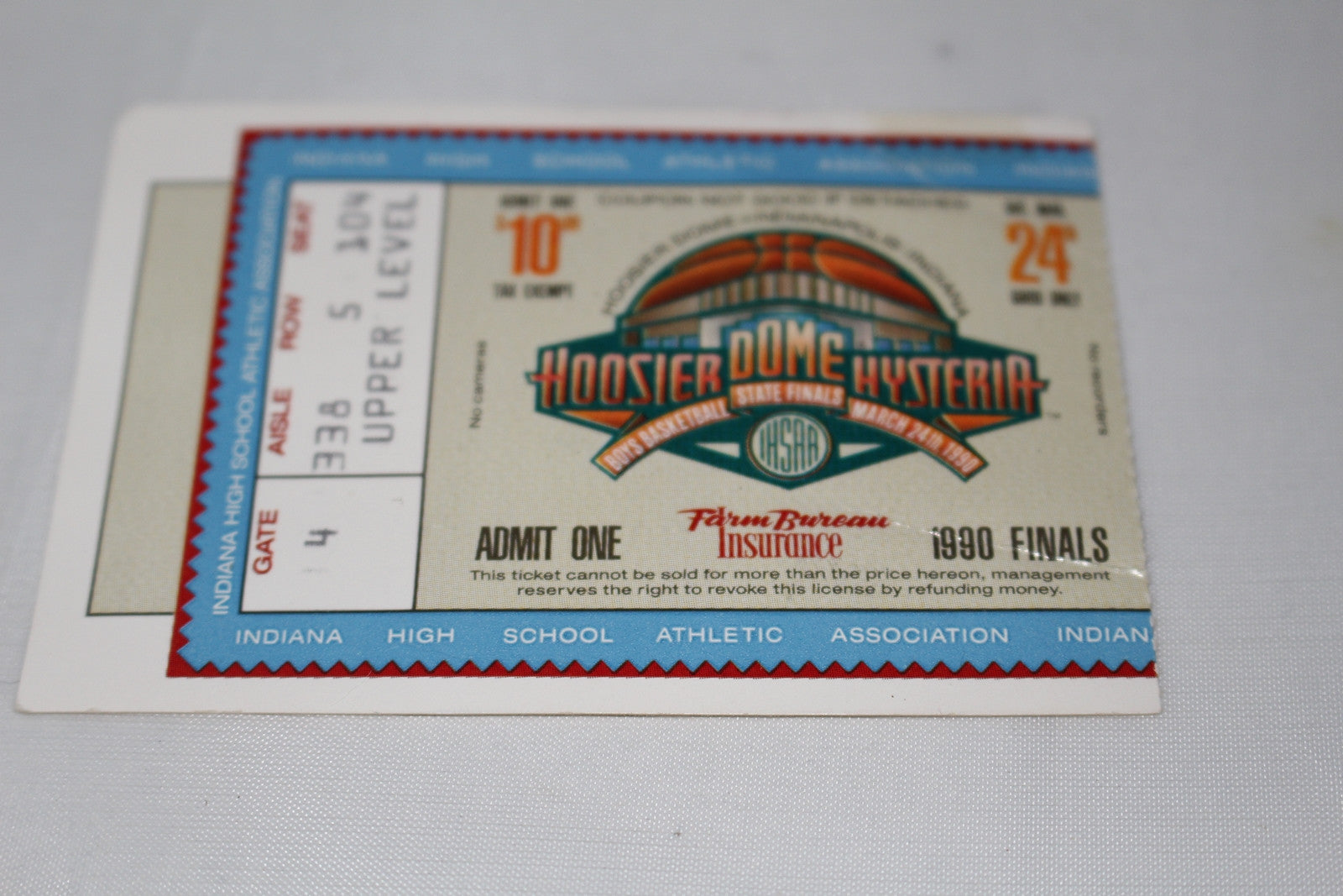 1990 Indiana High School State Basketball Finals Ticket Stub, Hoosier Dome, Damon Bailey - Vintage Indy Sports
