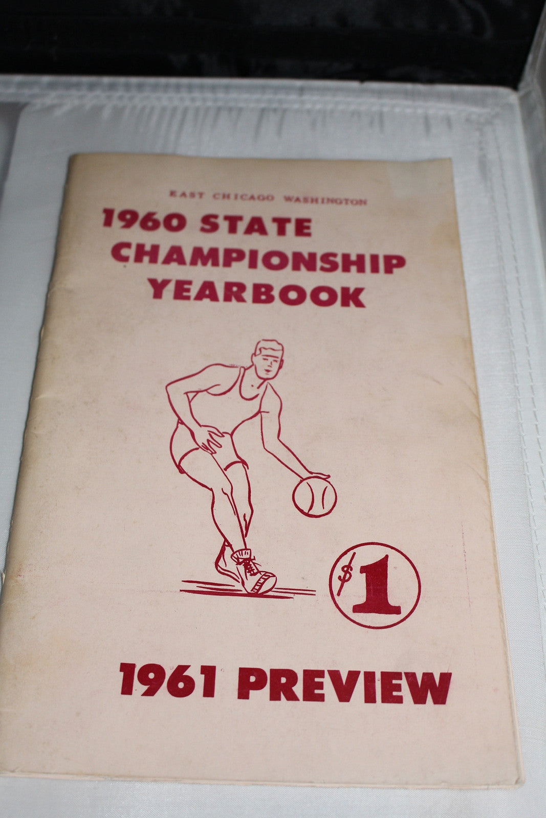 1960 East Chicago Washington Indiana High School Basketball State Championship Yearbook - Vintage Indy Sports