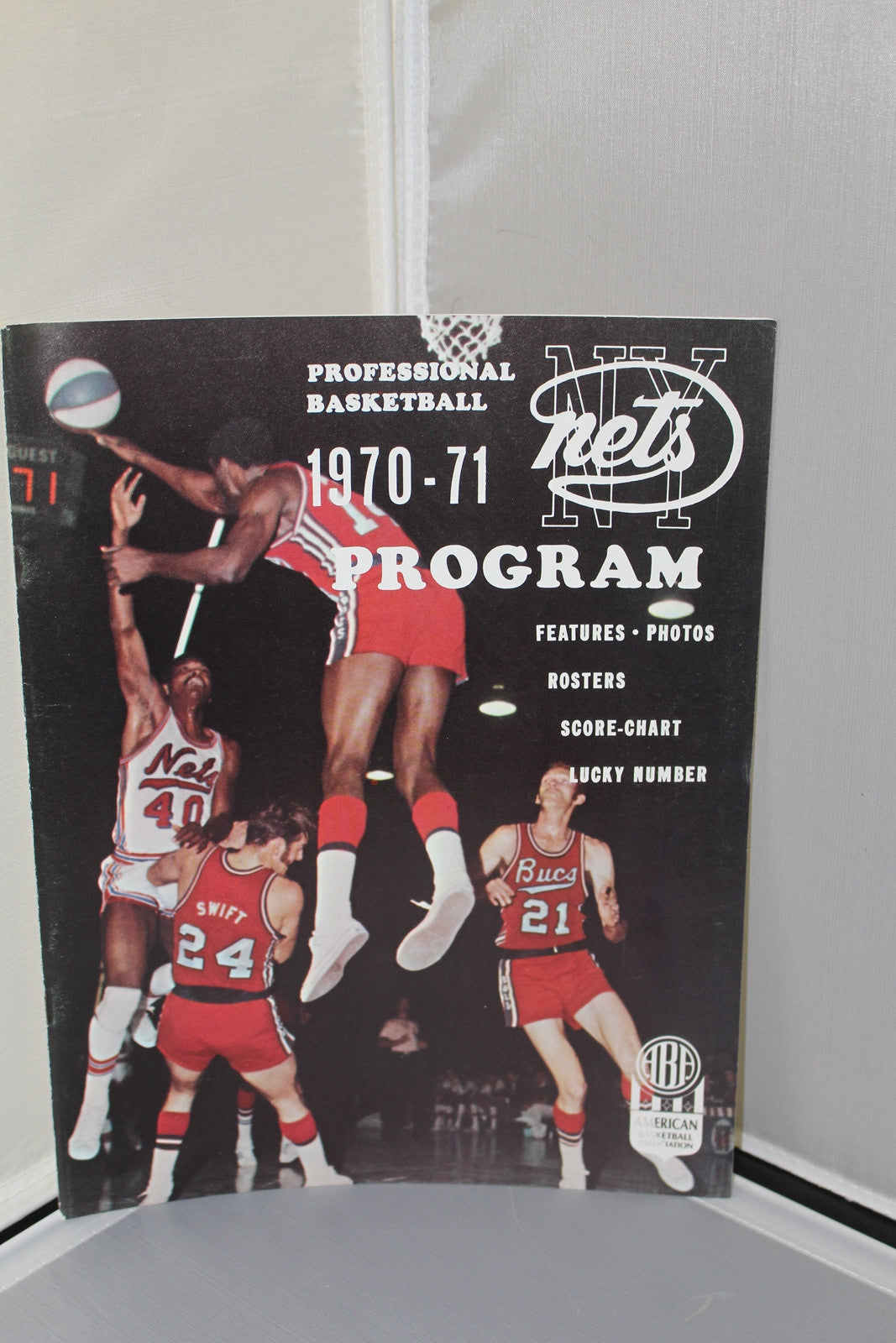 1970-71 Utah Stars vs NY Nets ABA Basketball Program, Unscored, Excellent Condition - Vintage Indy Sports