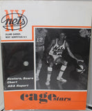 1969-70 Caroliona Cougars vs NY Nets ABA Basketball Program, Unscored, Excellent - Vintage Indy Sports