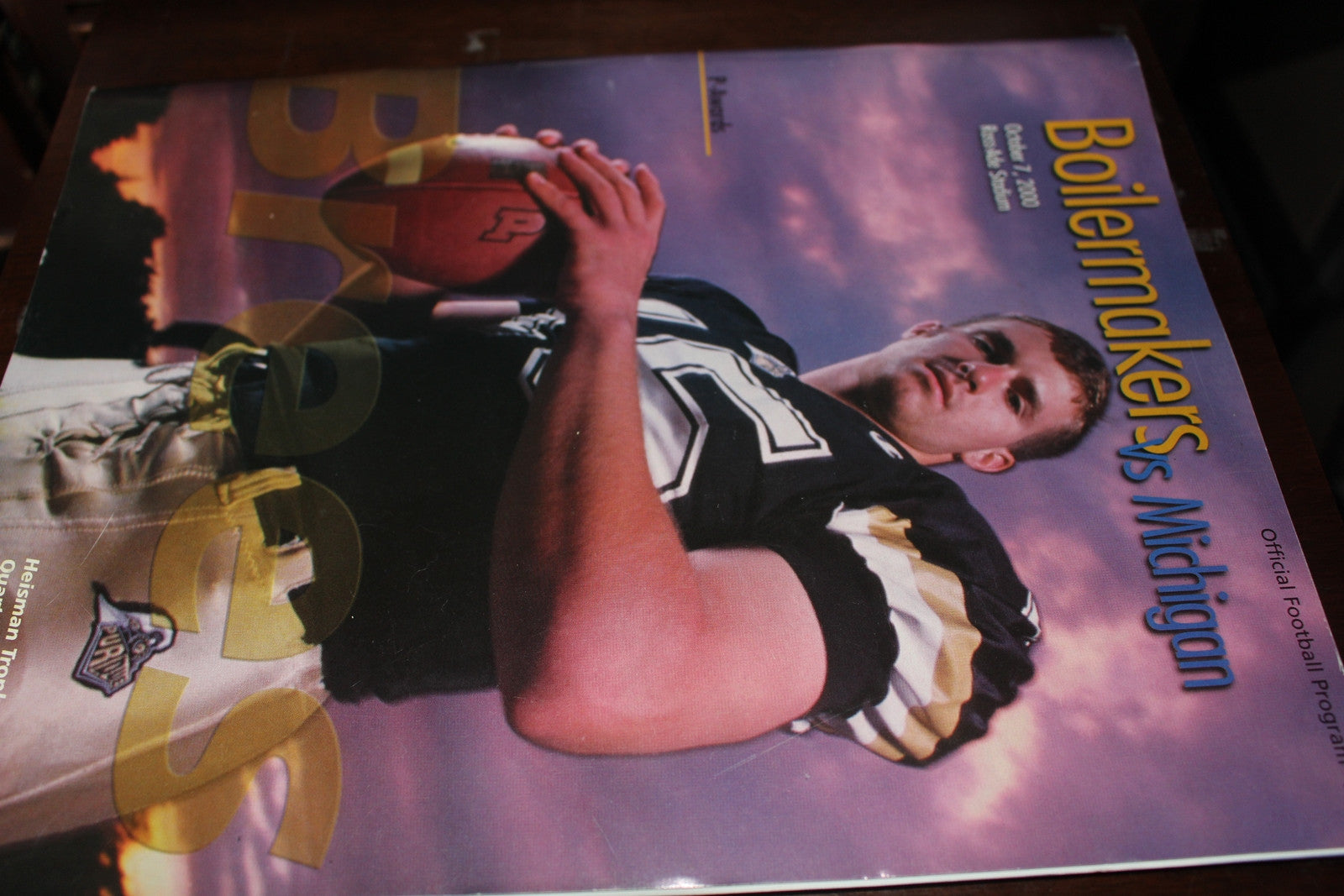 2000 Purdue vs Michigan Football Program, Drew Brees on Cover - Vintage Indy Sports