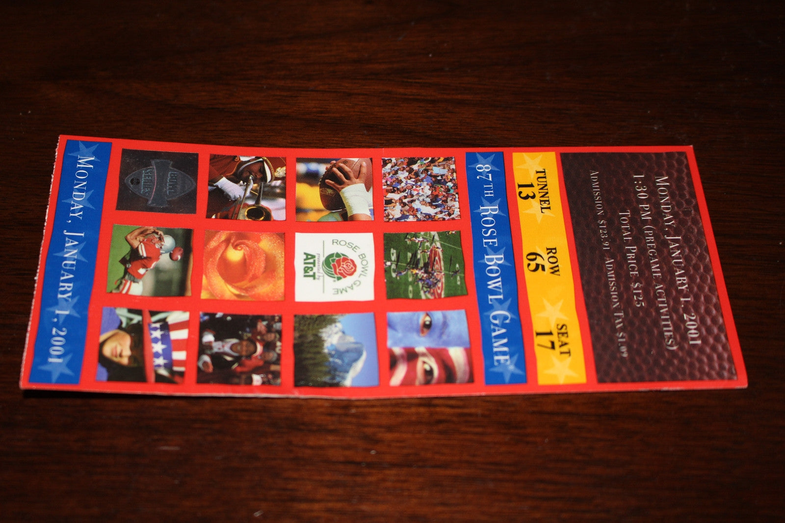 2001 Rose Bowl Purdue vs Washington Ticket Stub - Vintage Indy Sports