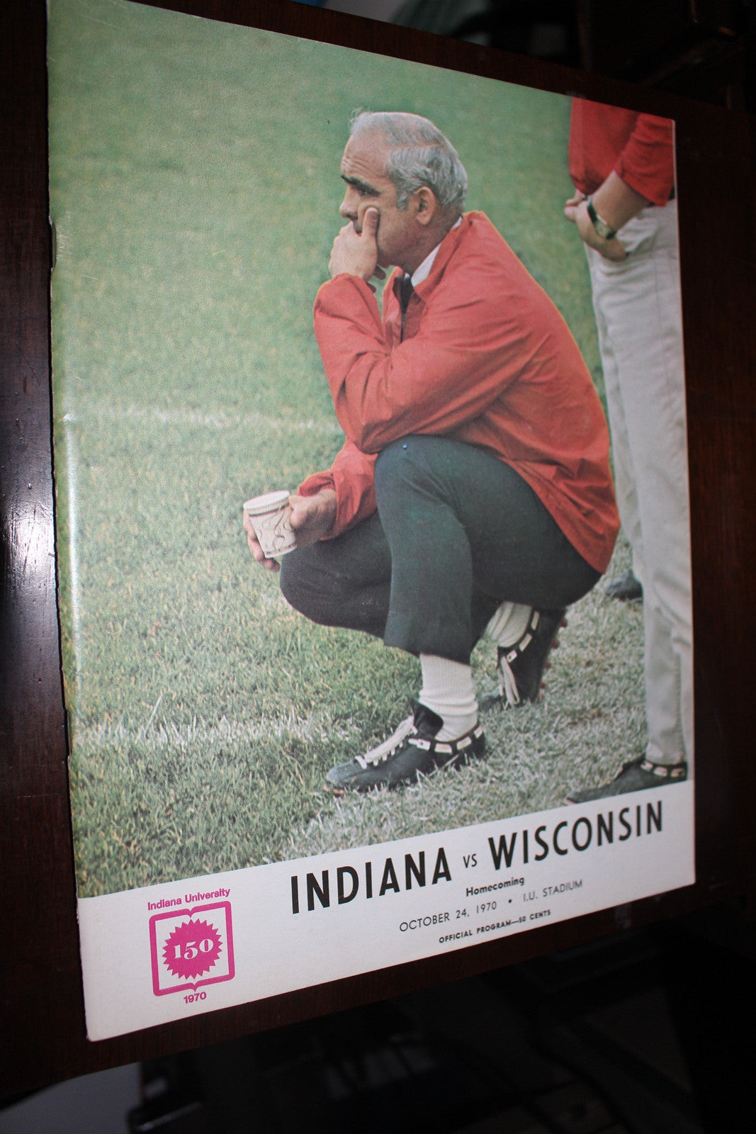 1970 Indiana University vs Wisconsin Football Program - Vintage Indy Sports