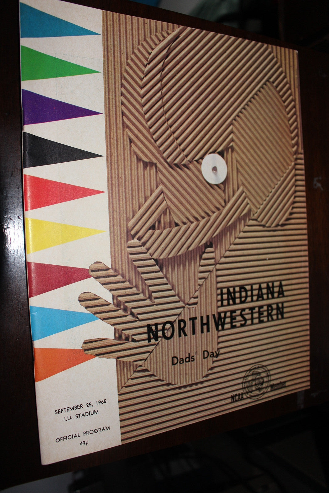 1965 Indiana University vs Northwestern Football Program, Dad's Day - Vintage Indy Sports