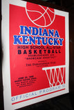1988 Indiana vs Kentucky High School All Star Basketball Game Program - Vintage Indy Sports