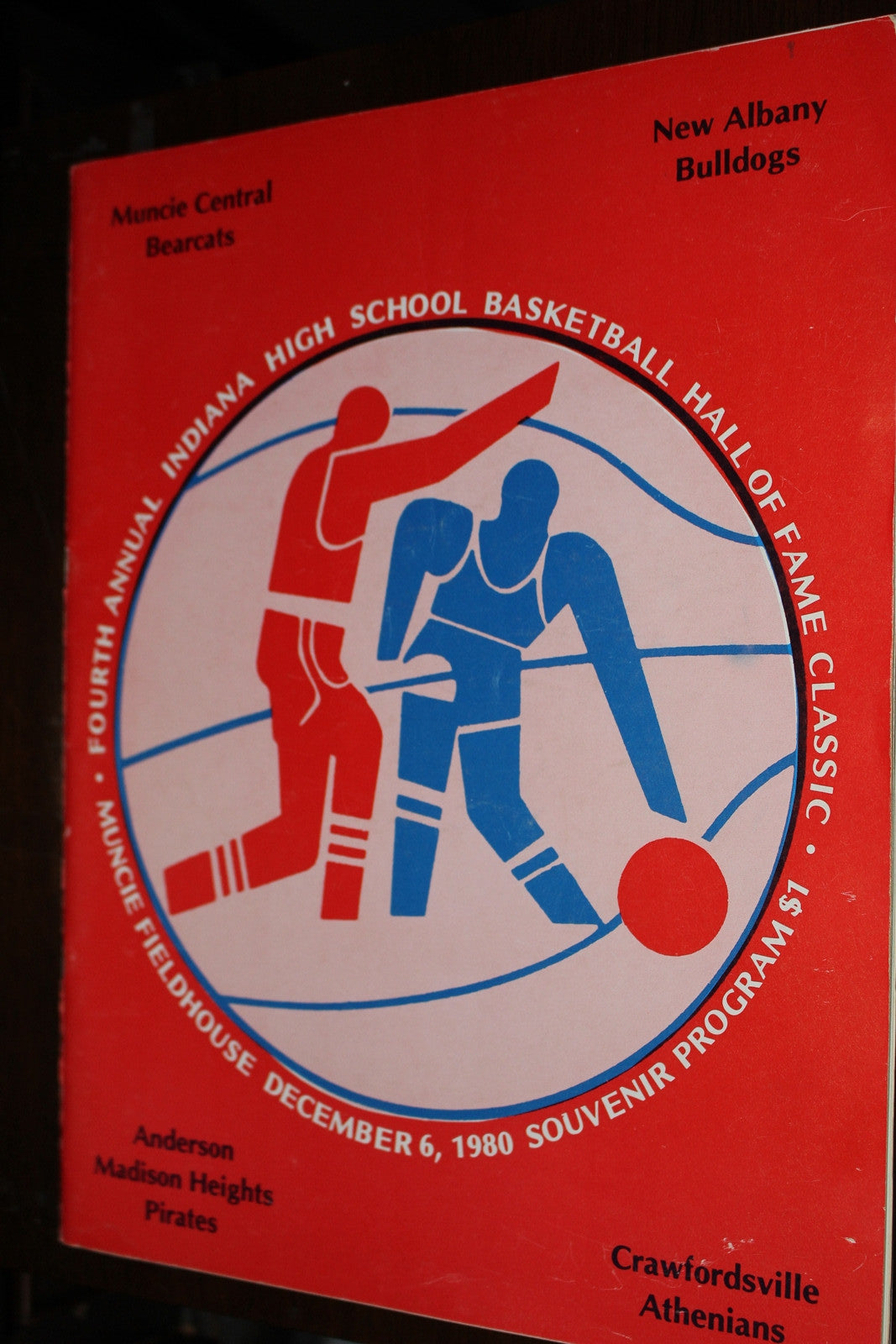 1980 Indiana High School Basketball Hall of Fame Classic Program - Vintage Indy Sports