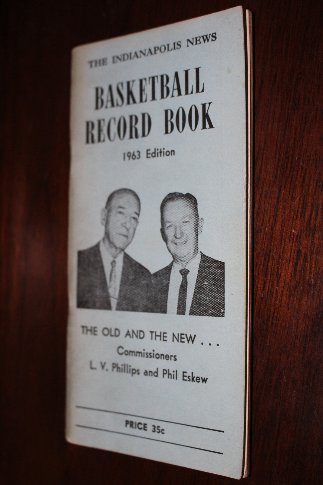 1963 Indianapolis News Basketball Record Book - Vintage Indy Sports