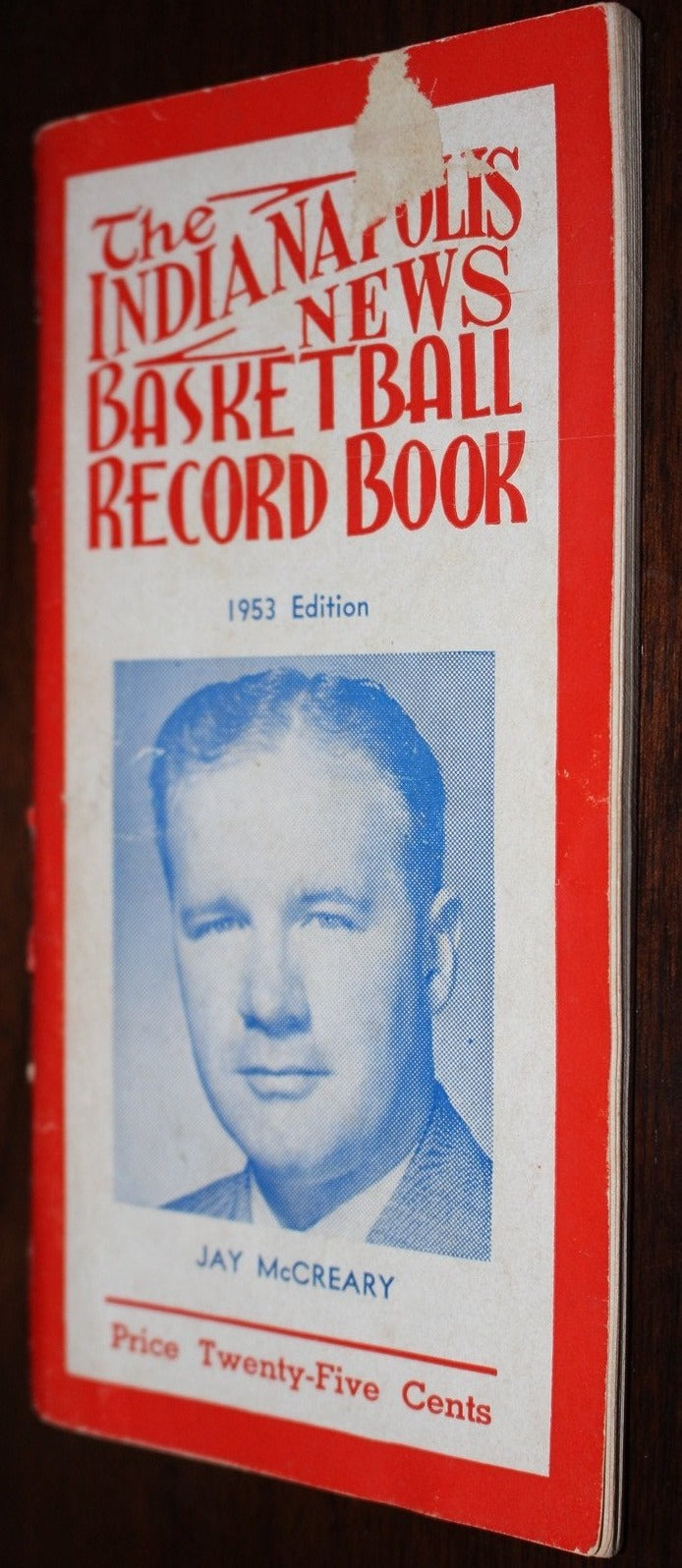 1953 Indianapolis News Basketball Record Book - Vintage Indy Sports