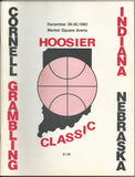 1982 Hoosier Classic Basketball Program - Vintage Indy Sports