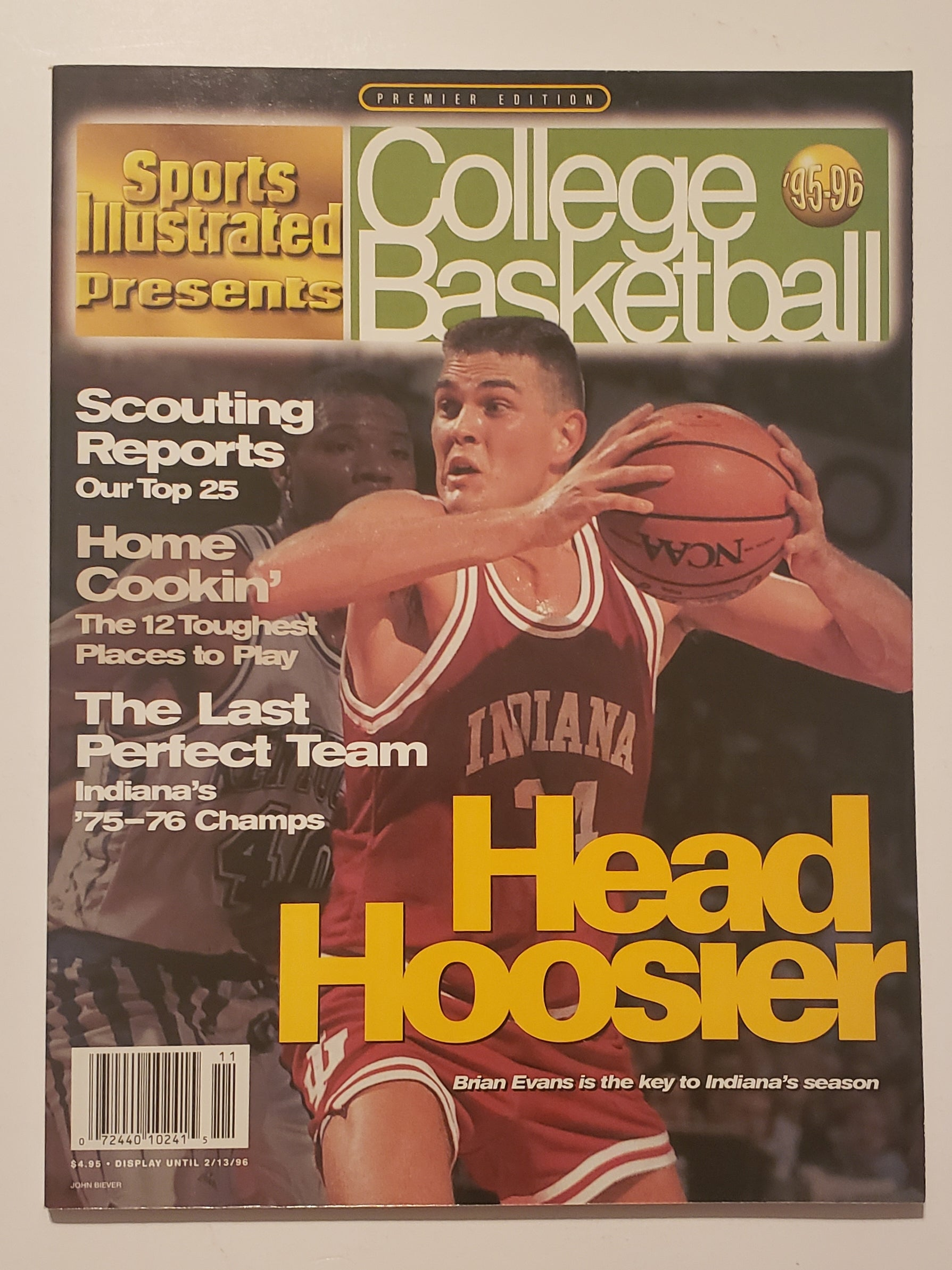 '95-'96 Sports Illustrated Presents College Basketball Brian Evans