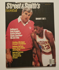 1987-88 Street & Smith's Basketball Magazine Yearbook Bob Knight Keith Smart
