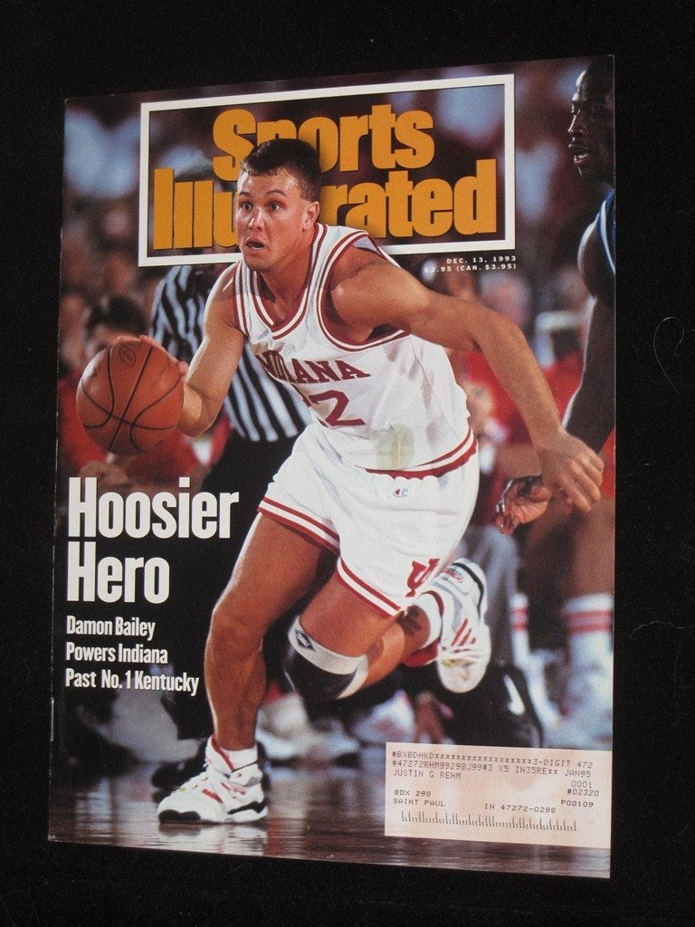 Dec 13, 1993 Sports Illustrated Issue, Damon Bailey Indiana - Vintage Indy Sports