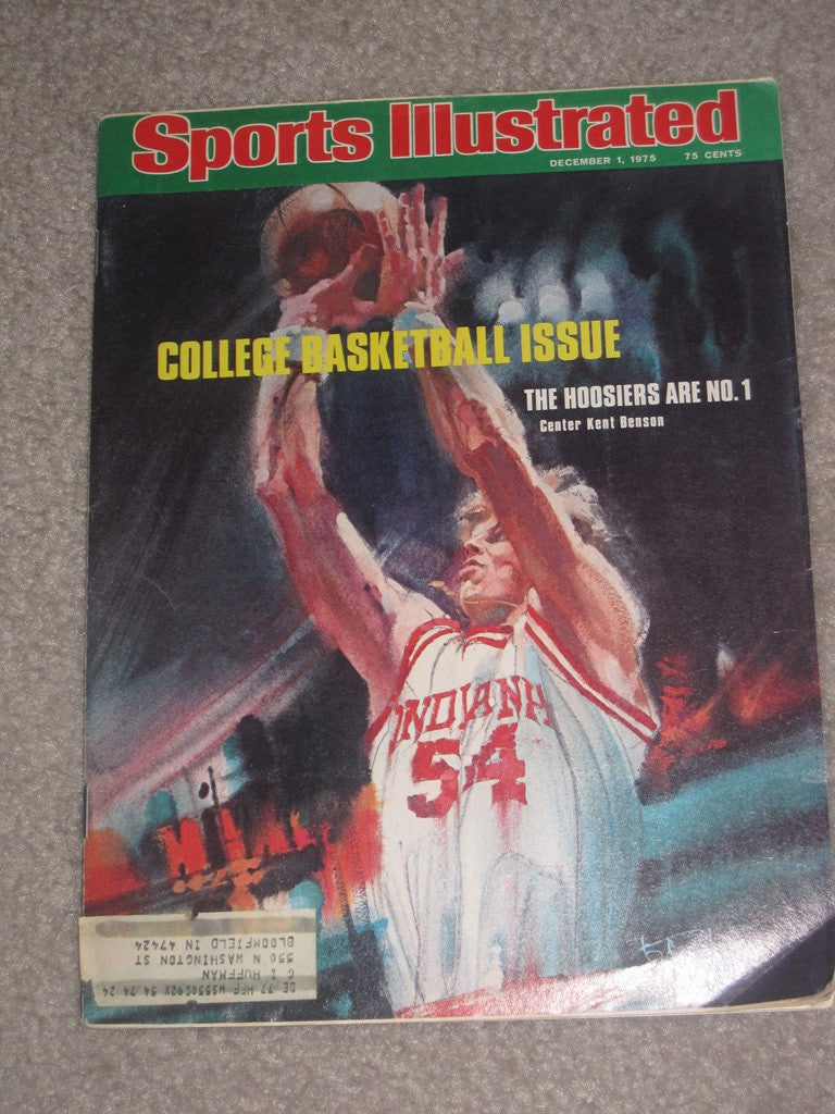 1975 INDIANA UNIVERSITY BASKETBALL SPORTS ILLUSTRATED KENT BENSON - Vintage Indy Sports