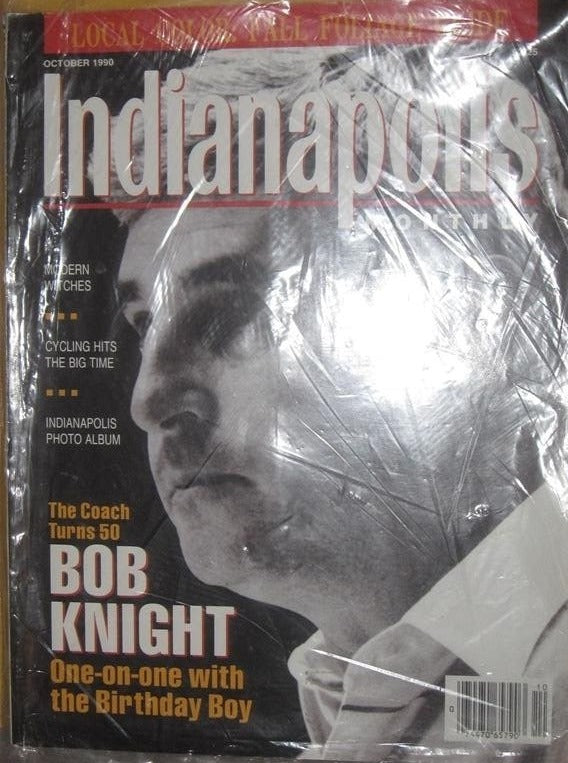 OCTOBER 1990 INDIANAPOLIS MONTLY MAGAZINE, BOB KNIGHT COVER - Vintage Indy Sports