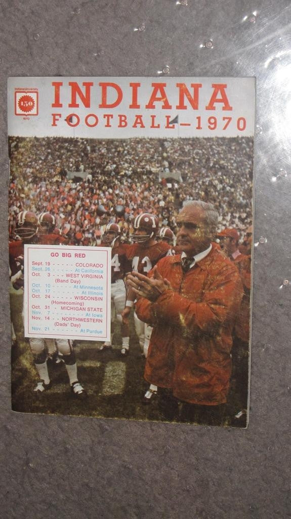1970 INDIANA UNIVERSITY FOOTBALL MEDIA GUIDE - Vintage Indy Sports