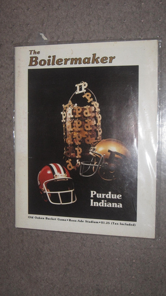 1980 PURDUE VS INDIANA FOOTBALL PROGRAM - Vintage Indy Sports