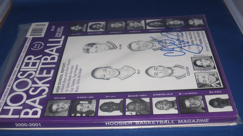 2000-01 HOOSIER BASKETBALL MAGAZINE, CHRIS THOMAS AUTOGRAPH - Vintage Indy Sports
