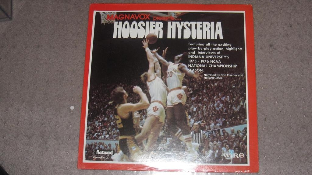 1976 INDIANA UNIVERSITY HOOSIER HYSTERIA 33 1/3 RPM RECORD SEALED - Vintage Indy Sports