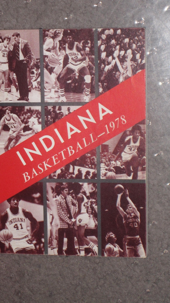 1978 INDIANA UNIVERSITY BASKETBALL MEDIA GUIDE - Vintage Indy Sports