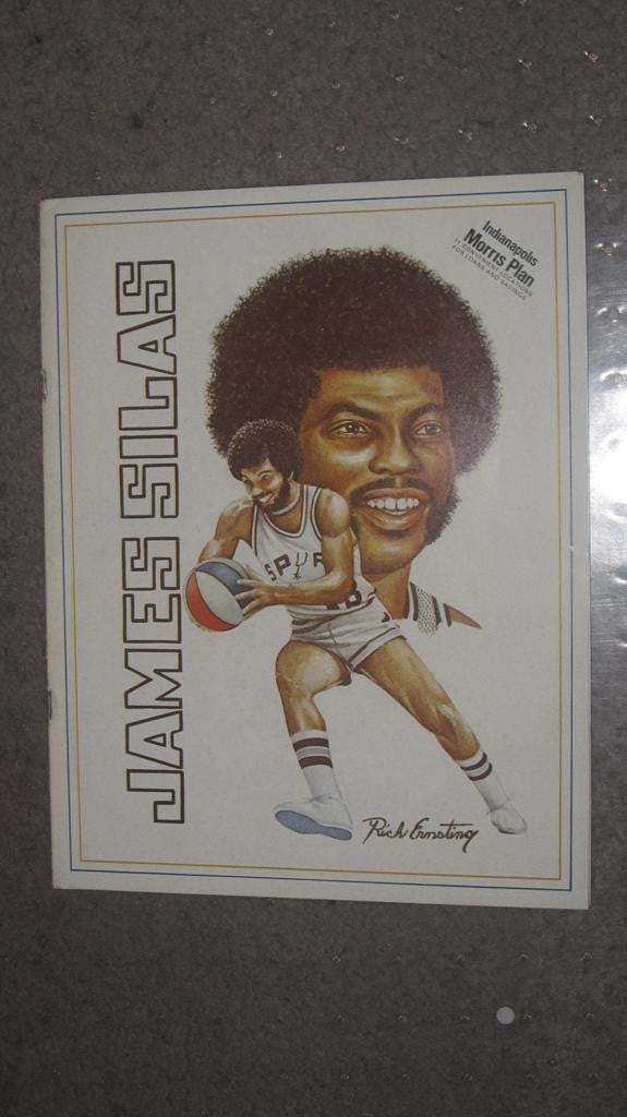 1976 ABA INDIANA PACERS VS SAN ANTONIO SPURS PROGRAM - Vintage Indy Sports