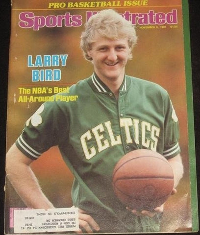 1981 SPORTS ILLUSTRATED LARRY BIRD COVER