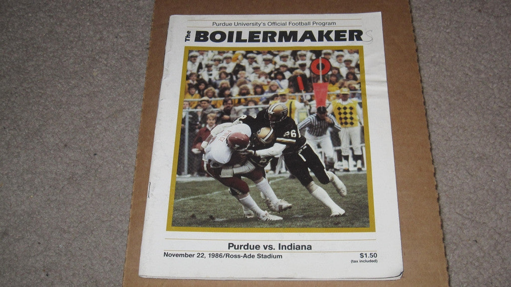 1986 PURDUE VS INDIANA FOOTBALL PROGRAM - Vintage Indy Sports