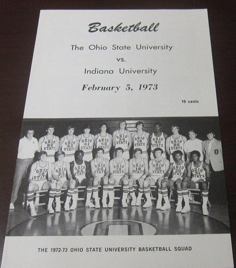1973 Indiana vs Ohio State Basketball Program - Vintage Indy Sports