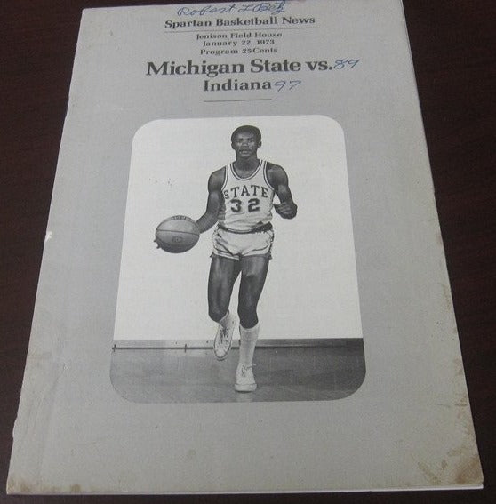 1973 Indiana vs Michigan State Basketball Program - Vintage Indy Sports