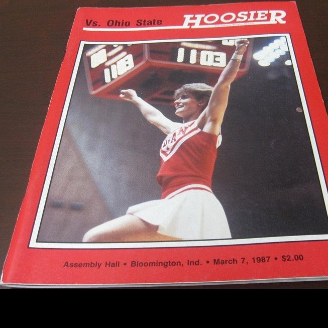 1987 Indiana vs Ohio State Basketball Program - Vintage Indy Sports