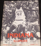 1982 Indiana vs Illinois Basketball Program - Vintage Indy Sports