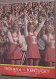 1973 Indiana vs Kentucky Football Program, Quinn Buckner - Vintage Indy Sports
