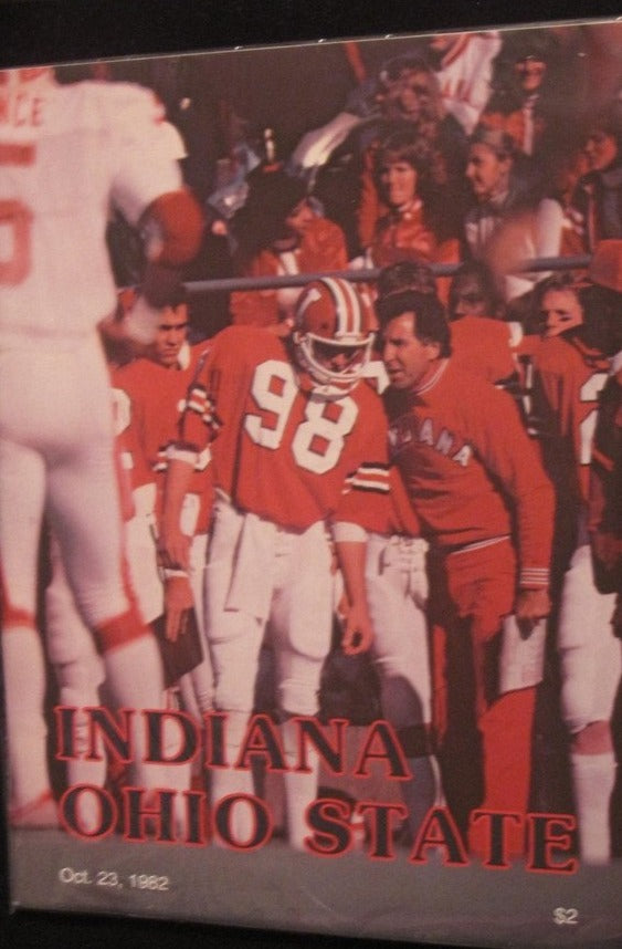 1982 Indiana vs Ohio State Football Program - Vintage Indy Sports