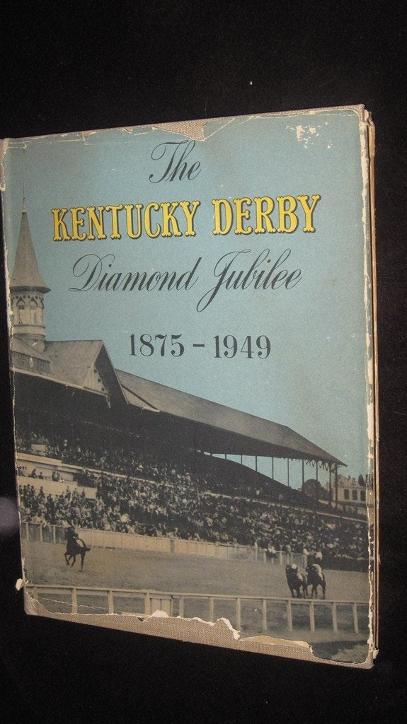 The Kentucky Derby Diamond Jubilee Oversized HB Book - Vintage Indy Sports