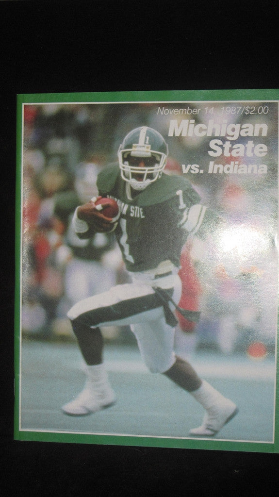 1987 Michigan State vs Indiana Football Program - Vintage Indy Sports