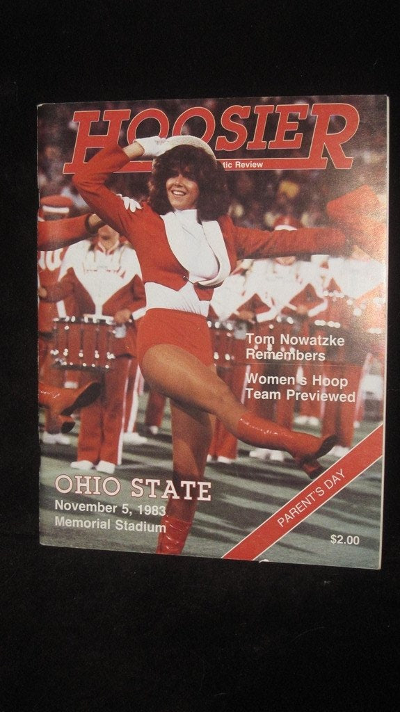 1983 Indiana vs Ohio State Football Media Guide - Vintage Indy Sports