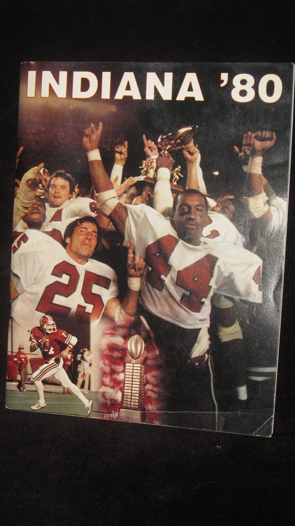 1980 Indiana University Football Media Guide - Vintage Indy Sports