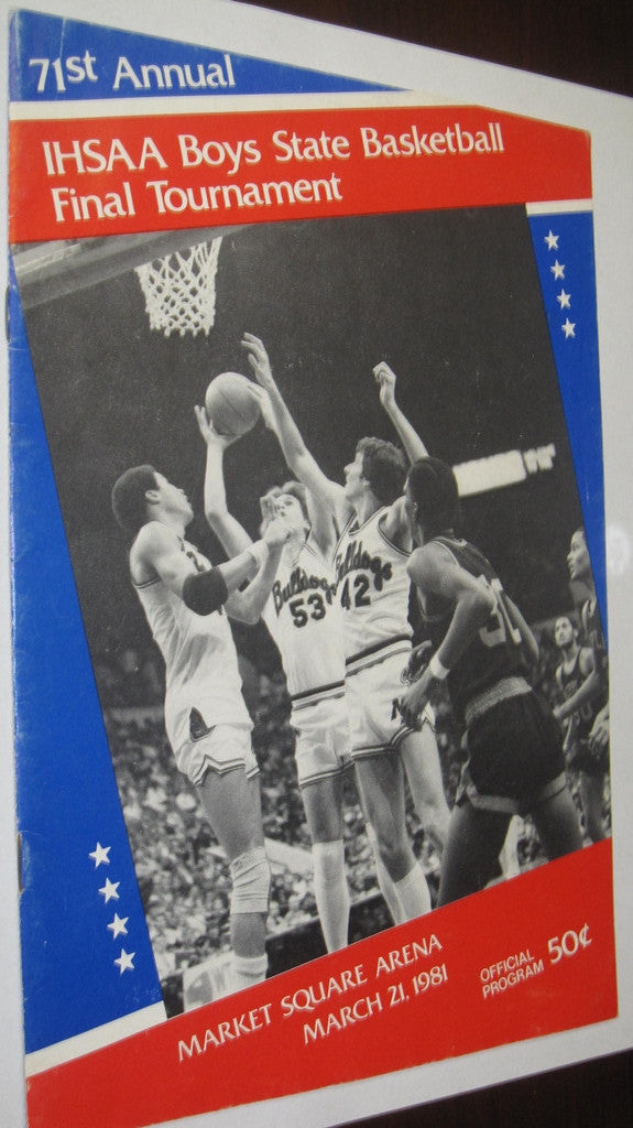 1981 Indiana High School Basketball State Finals Program - Vintage Indy Sports
