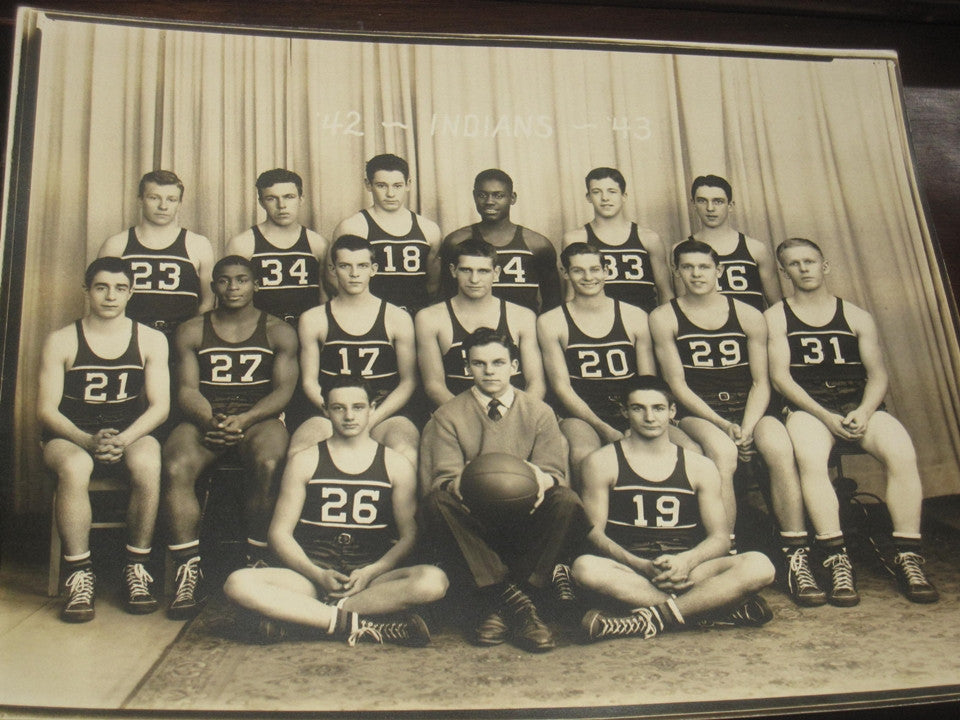 1943 Anderson Indiana High School Basketball Photograph - Vintage Indy Sports